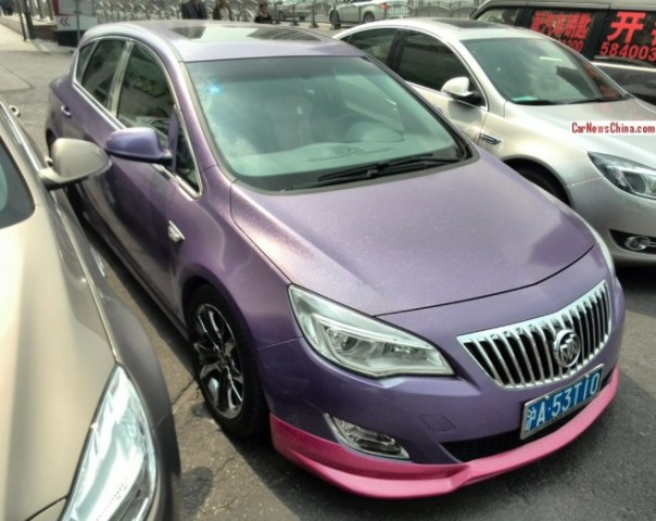 Buick Excelle XT is matte glitter purple in China