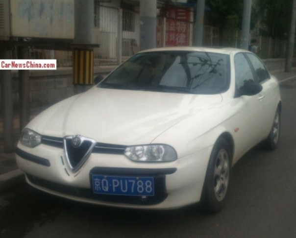 Spotted in China: Alfa Romeo 156 Selespeed