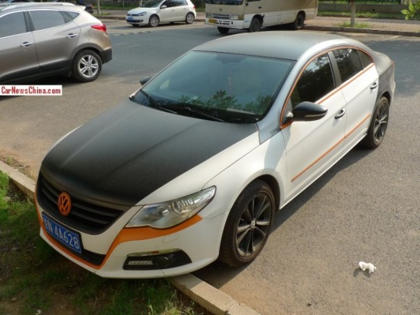 Volkswagen Passat CC is white, matte black, an orange in China