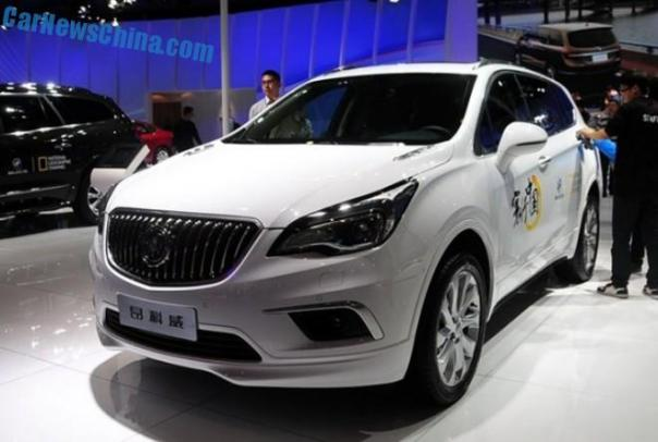 Buick Envision SUV debuts in China on the Chengdu Auto Show
