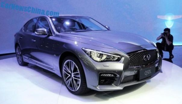 Infiniti Q50L debuts in China on the Chengdu Auto Show