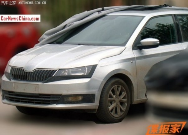 Spy Shots: 2015 Skoda Fabia is almost Completely Naked in China