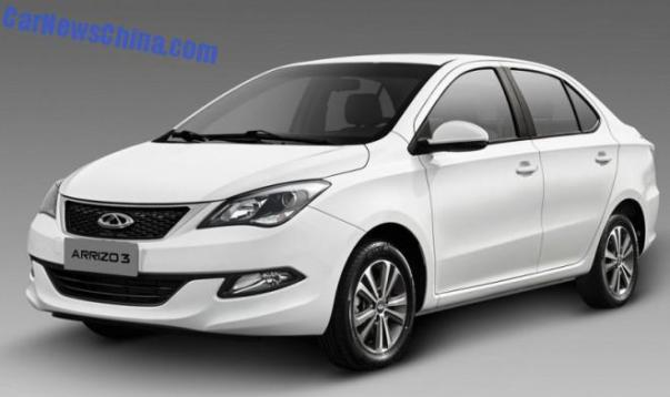 First official photos of the Chery Arrizo 3