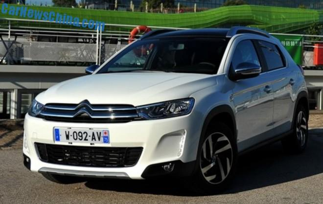 This is the new Citroen C3-XR for the China car market