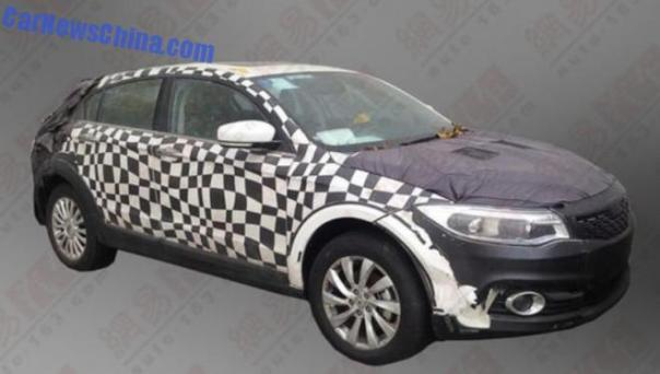 Spy Shots: Qoros 3 Cross seen testing in China