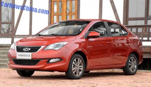 Chery Arrizo 3 launched on the Chinese car market