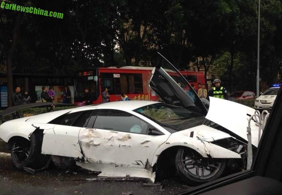 Five Lamborghini Supercars Crashed In China On Friday