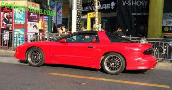 Spotted in China: fourth generation Pontiac Firebird in Red