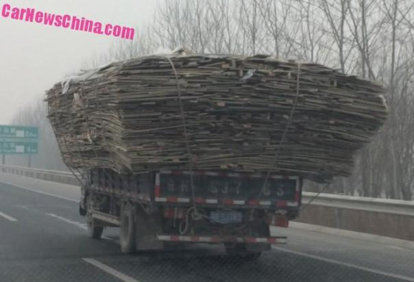 Two slightly overloaded Trucks in Beijing