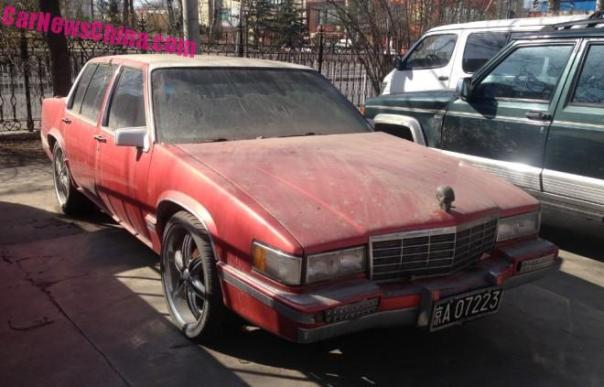 Spotted in China: sixth generation Cadillac de Ville with a Skull on the Hood