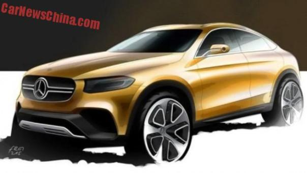 Mercedes-Benz GLC Coupe will debut on the Shanghai Auto Show