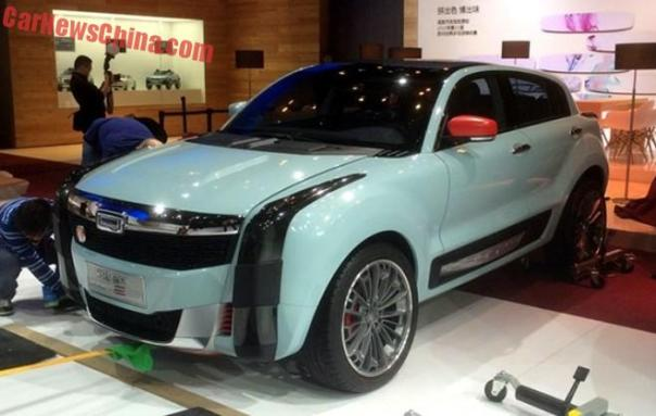 First Live Shots of the Qoros 2 SUV concept for the Shanghai Auto Show