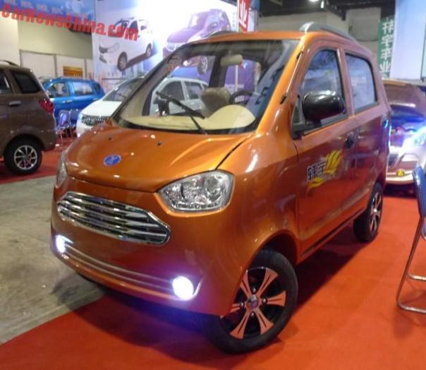Shandong EV Expo in China: the Xuanyu Xuanlai mini EV