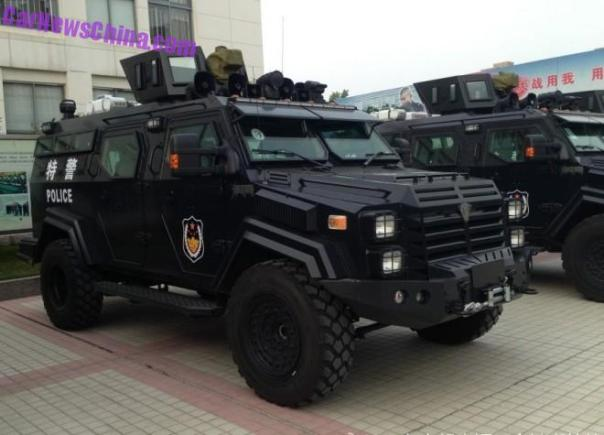 Meet the Sabertooth, a new Badass APC for the Chinese police