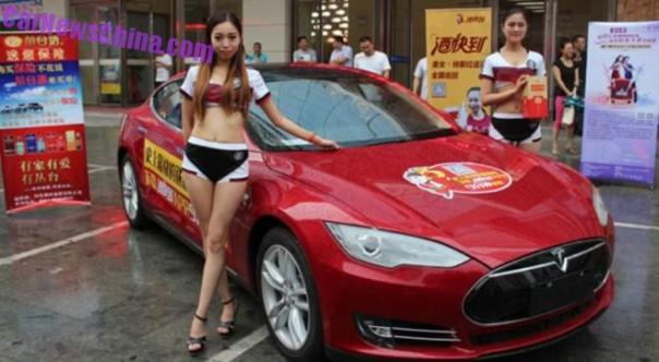 Buyers of a Tesla Model S will get a Free License Plate in Tianjin, China