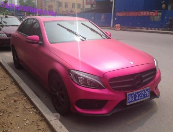 Mercedes-Benz C-Class L is Pink in China