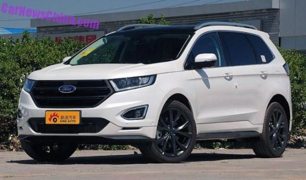 China-made Ford Edge launched on the Chinese car market
