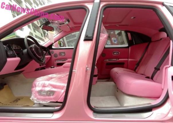A Peek inside the Pink Rolls-Royce Ghost in China