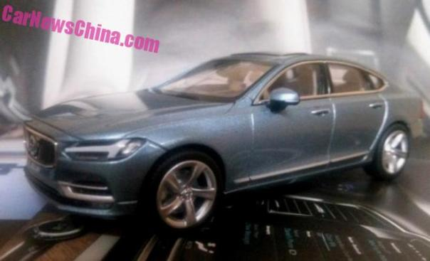 Volvo S90 1:18 leaks again in China