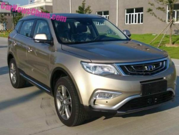 Spy Shots: Geely NL-3 SUV is Naked in China
