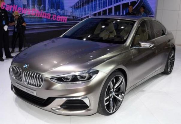 BMW Concept Compact Sedan debuts on the Guangzhou Auto Show in China