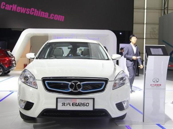 Beijing Auto Senova EU260 EV debuts on the Guangzhou Auto Show in China
