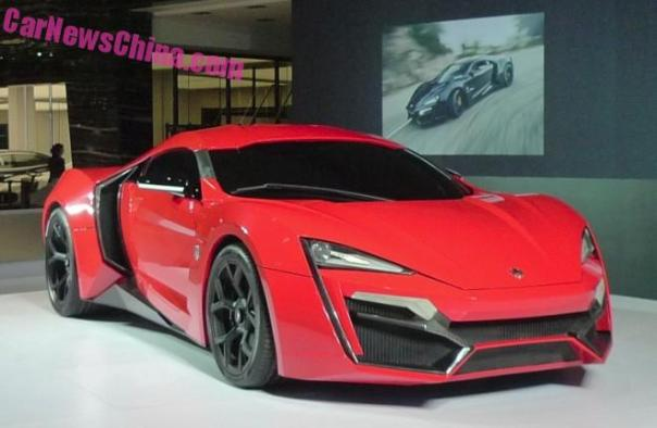 The W Motors Lykan HyperSport arrives in Beijing