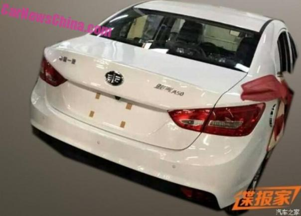 Spy Shots: FAW Junpai A50 sedan Testing in China