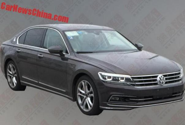 New Spy Shots of the Volkswagen Phideon for China