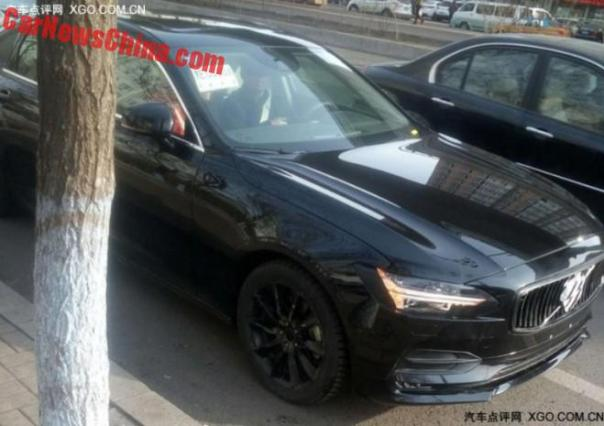 Spy Shots: Volvo S90L is a bit more Naked in China