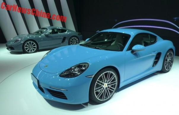 Porsche 718 Cayman launched on the Beijing Auto Show in China