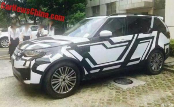 New Spy Shots Of The 2017 Land Rover Discovery Testing In China