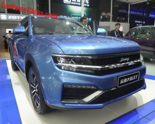 Zotye Damai X7 Hits The Chengdu Auto Show In China