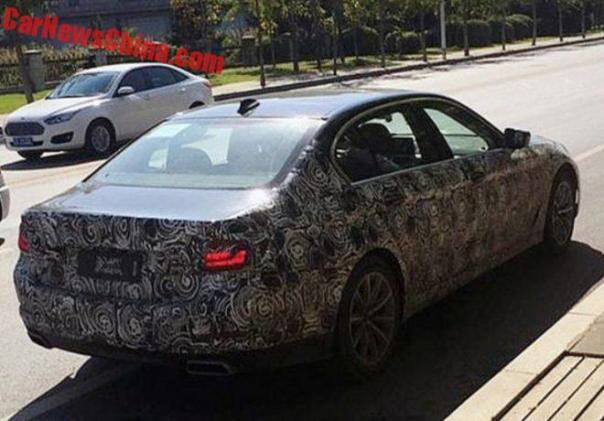 Spy Shots: 2017 BMW 5Li Testing In China