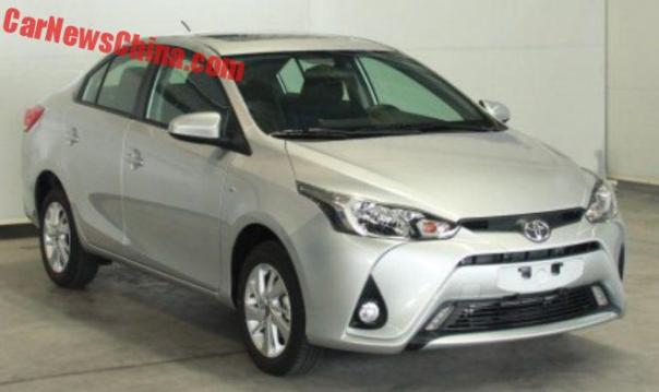 First Photos Of The Toyota Yaris L Sedan For China