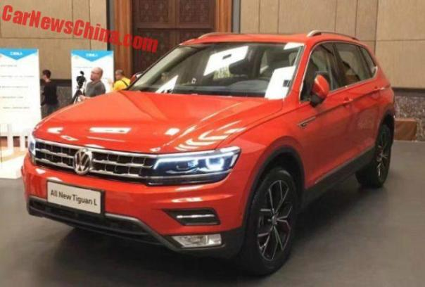 Spy Shots: Volkswagen Tiguan L Is Orange And Naked In China