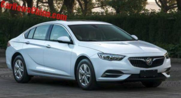 This Is The New Buick Regal Sedan For China