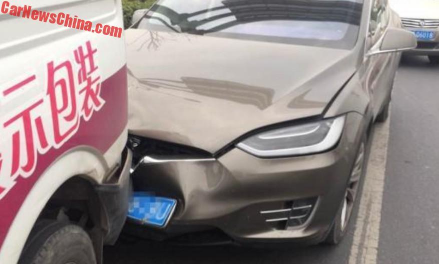 Watch a Tesla Model 3 prototype drive down the street