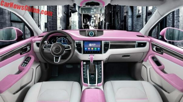 The Interior Of The Female-only Zotye SR9 Godess Edition Is Properly Pink