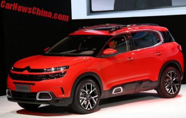 Citroen C5 Aircross SUV Unveiled In Shanghai, China