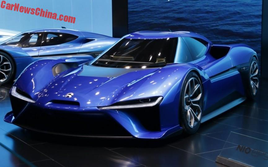 the ultra speedy nextev nio ep electric supercar arrived at the shanghai auto show times six the entire run