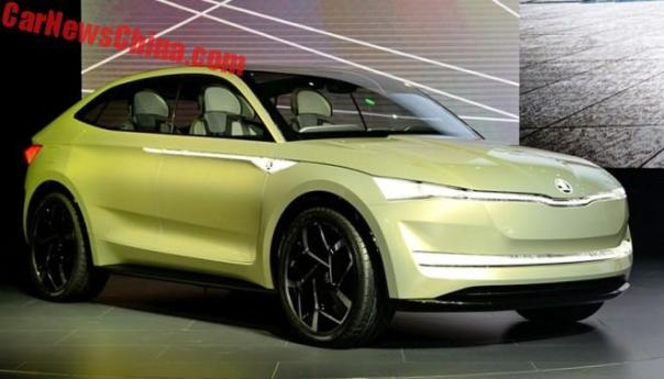 The Skoda Vision E Previews A Sporty Electric SUV Coupe