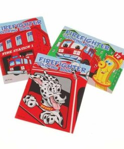 Firefighter Coloring Books Carnival Prizes