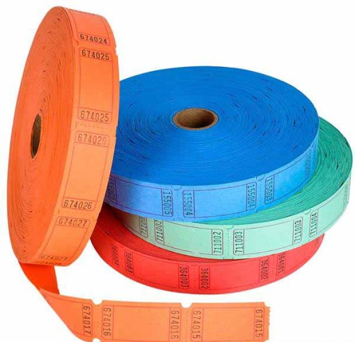 Single Roll Ticket Blank Carnival Supplies
