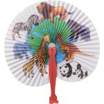 Animal Print Folding Fans Carnival Prize