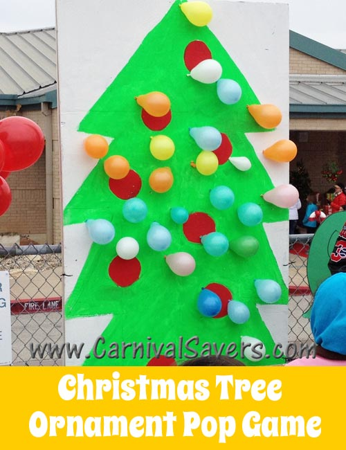 Christmas Tree Ornament Balloon Pop   Fun Carnival Game  christmas tree ornament pop holiday game jpg