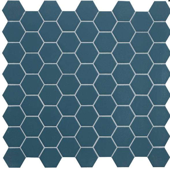 Plinthe Terratinta Hexa Mos Ocean Wave Bleu 32 X 32 Vente En Ligne De Carrelage Pas Cher A Prix Discount Caro Centre