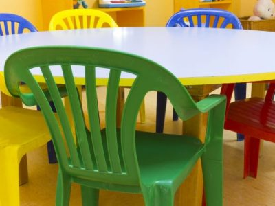 chairs in a daycare