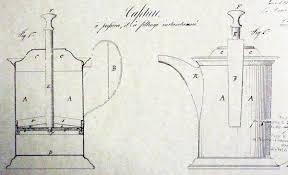 Mapa de diseño de la primera prensa francesa de Mayer y Delforge 1852