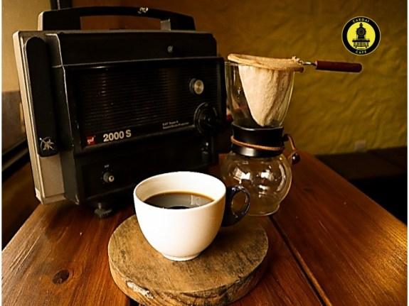 Cafetera pour over con filtro de tela